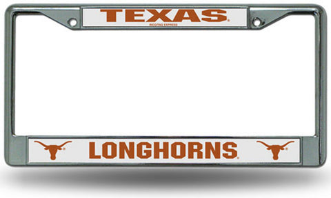 Chrome License Plate Frame - Texas Longhorns - Peazz.com