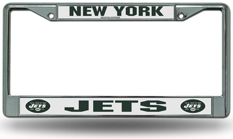 Chrome License Plate Frame - New York Jets - Peazz.com