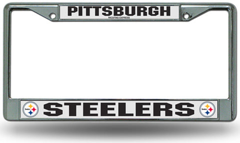 Chrome License Plate Frame - Pittsburgh Steelers - Peazz.com