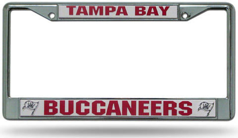 Chrome License Plate Frame - Tampa Bay Buccaneers - Peazz.com