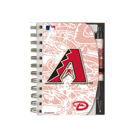 Deluxe Hardcover 4X6 Notebook & Pen Set (Grip) - Arizona Diamondbacks - Peazz.com