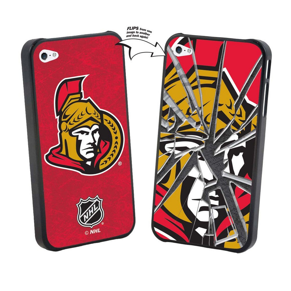 Iphone 4/4S NHL Ottawa Senators Broken Glass Lenticular Case