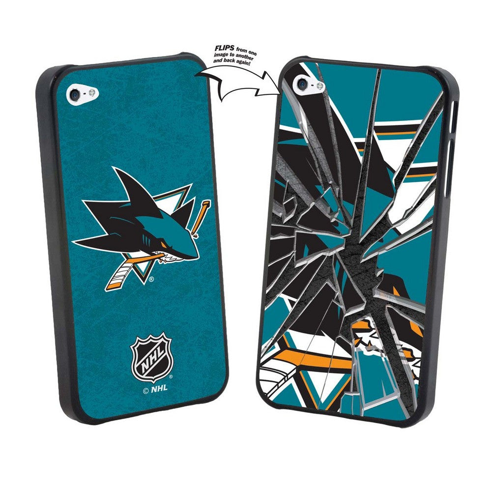 Iphone 5 NHL San Jose Sharks Broken Glass Lenticular Case