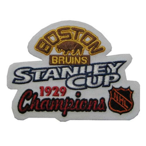 NHL Stanley Cup Champions Patch - Boston Bruins 1929 - Peazz.com