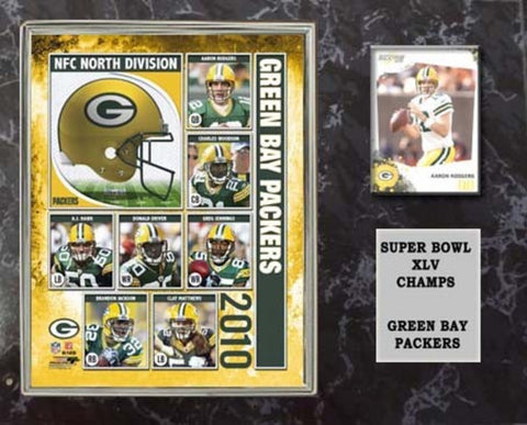 12X15 Super Bowl 45 Plaque With Authentic Football Card And 8X10 Photo - Green Bay Packers - Peazz.com