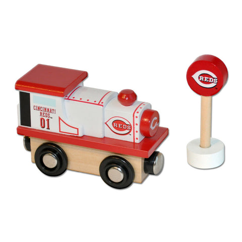 All Star Express MLB Wood Train - Train Engine - Cincinnati Reds - Peazz.com