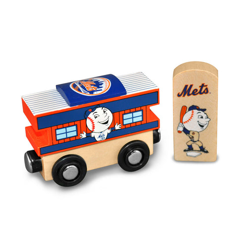 All Star Express MLB Wood Train - Caboose - New York Mets - Peazz.com