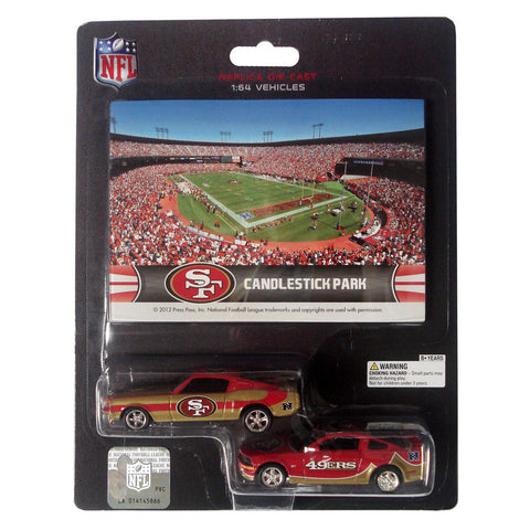 Ford Mustang And Dodge Charger 1:64 Scale Diecast Cars - San Francisco 49'Ers - Peazz.com