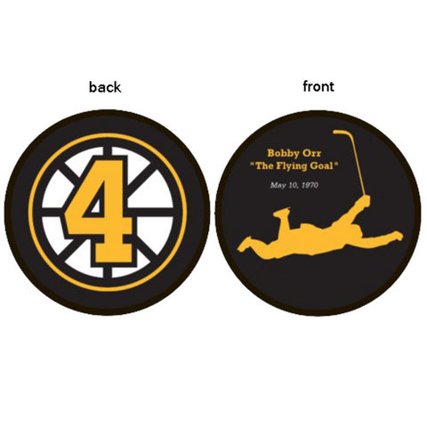 Bobby Orr Flying Goal Puck - Peazz.com