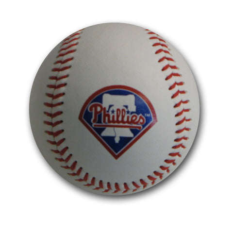 Blank Leather MLB Team Logo Baseballs - Philadelphia Phillies - Peazz.com