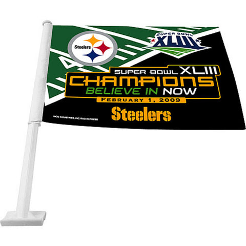 Rico Super Bowl 43 Champions Steelers Car Flag - Peazz.com