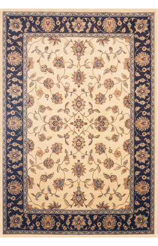 Abacasa 7003-8x10 Sonoma Eden Cream/Chocolate Area Rug - Peazz.com