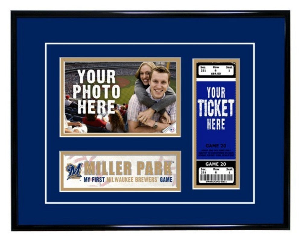 Milwaukee Brewers First Game Ticket Frame