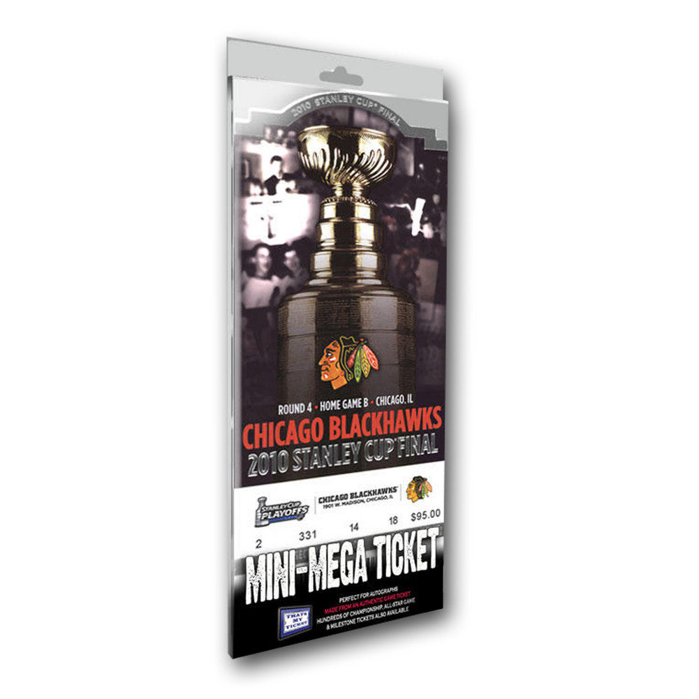 Mini-Mega Ticket - 2010 Stanley Cup Champions - Chicago Blackhawks
