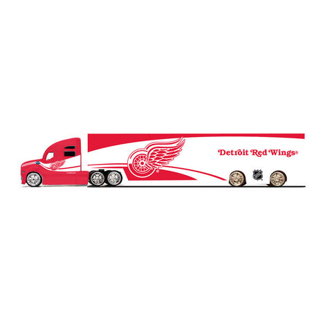 Top Dog Tractor Trailer Transport 1:64 Scale Diecast - Detroit Red Wings - Peazz.com