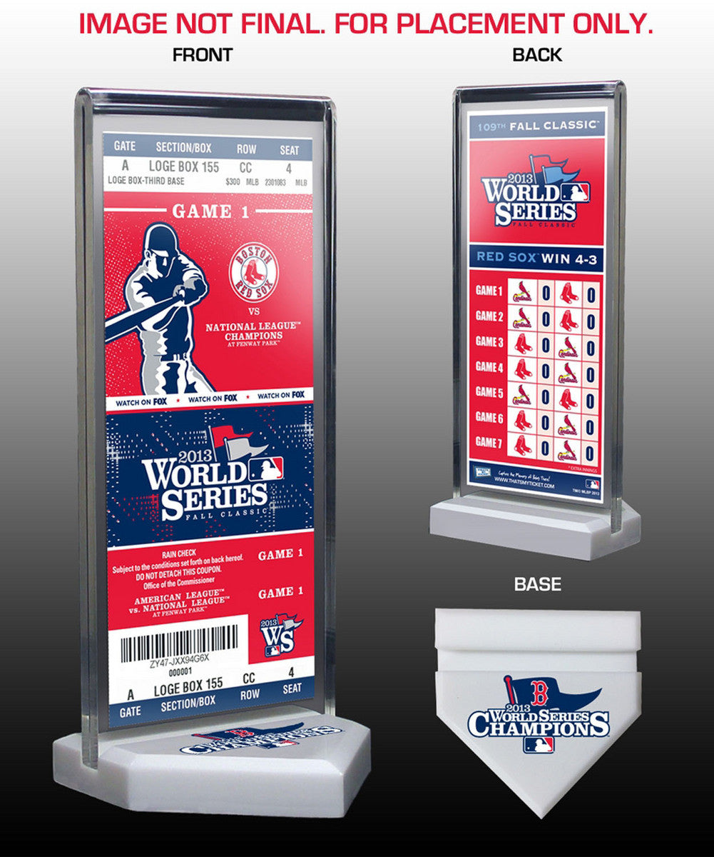 2013 World Series Champs Commemorative Ticket Stand - Boston Red Sox SPI-TSTBBBOSCWSC13