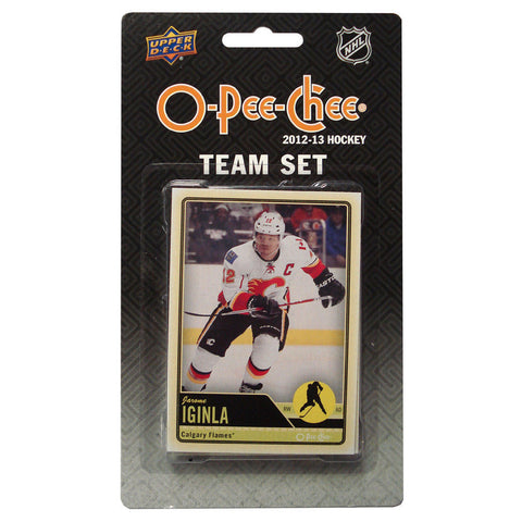 2012/13 Upper Deck O-Pee-Chee Team Card Set (17 Cards) - Calgary Flames - Peazz.com