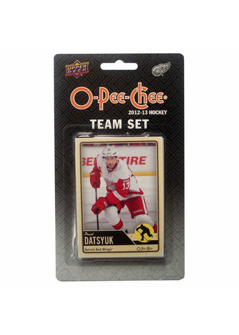2012/13 Upper Deck O-Pee-Chee Team Card Set (17 Cards) - Detroit Red Wings - Peazz.com