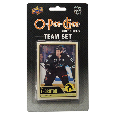2012/13 Upper Deck O-Pee-Chee Team Card Set (17 Cards) - San Jose Sharks - Peazz.com