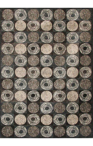 Bayden Hill 7019-8x10 Sonoma Halsted Charcoal/Ivory/Chocolate Area Rug - Peazz.com