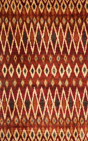 Abacasa 7021-8x10 Sonoma Backgammon Rust/Red Area Rug - Peazz.com