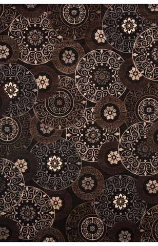 Bayden Hill 7022-5x8 Sonoma Lundy Chocolate/Black/Beige Area Rug - Peazz.com