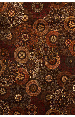 Abacasa 7023-8x10 Sonoma Lundy Rust/Brown/Ivory Area Rug - Peazz.com