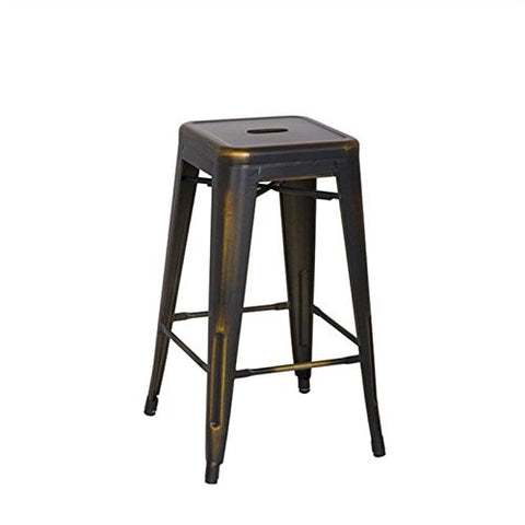 "OSP Designs BRW3026A4-AC Bristow 26"" Antique Metal Barstool, Antique Copper Finish, 4 Pack - Peazz.com"