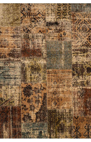 Bayden Hill 7025-5x8 Sonoma Mendota Beige/Brown/Green/Lt. Blue Area Rug - Peazz.com