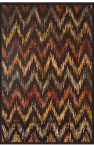 Abacasa 7040-8x10 Sonoma Kenton Chocolate/Rust/Tan/Aqua Area Rug - Peazz.com