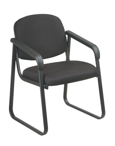Work Smart V4410-231 Deluxe Sled Base Arm Chair with Designer Plastic Shell - Peazz.com