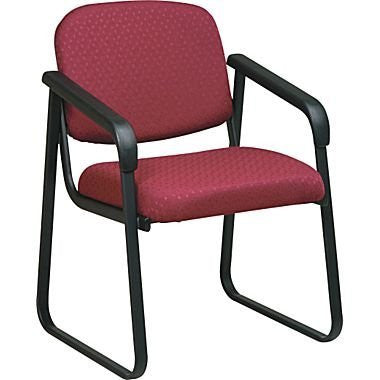 Work Smart V4410-74 Deluxe Sled Base Arm Chair with Designer Plastic Shell - Peazz.com