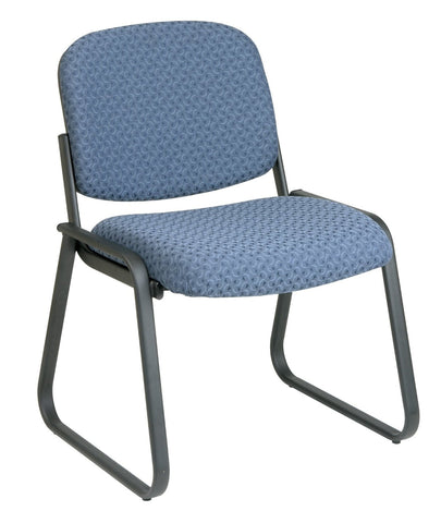 Work Smart V4420-78 Deluxe Sled Base Armless Chair with Designer Plastic Shell - Peazz.com