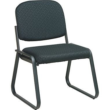 Work Smart V4420-80 Deluxe Sled Base Armless Chair with Designer Plastic Shell - Peazz.com