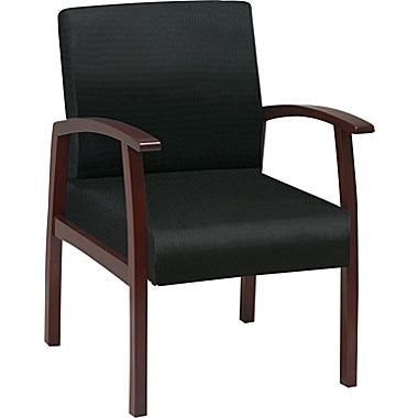 Work Smart WD1357-363 Deluxe Cherry Finish Guest Chair - Peazz.com