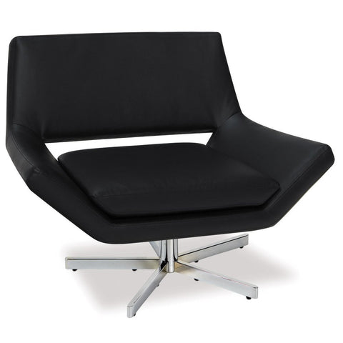 "Office Star Ave Six YLD5141-B18 Yield 40"" Wide Chair in Black Faux Leather - Peazz.com"