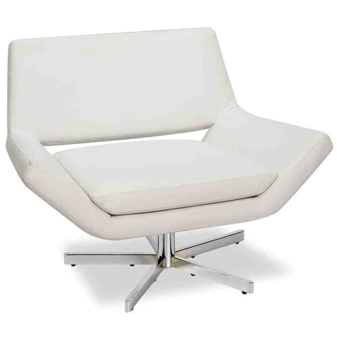 "Office Star Ave Six YLD5141-W32 Yield 40"" Wide Chair in White Faux Leather - Peazz.com"