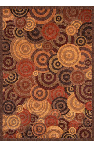 Abacasa 2000-5x8 Essentials Optima Rust/Gold/Brown Area Rug - Peazz.com