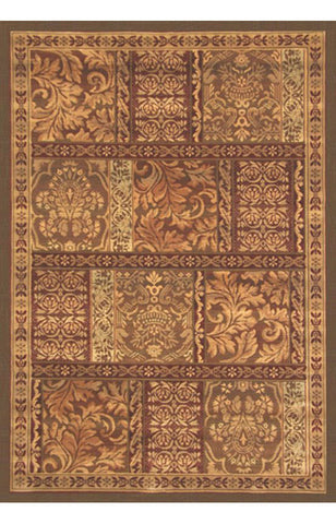 Abacasa 2018-8x10 Essentials Bazzar Gold/Sage/Brown Area Rug - Peazz.com