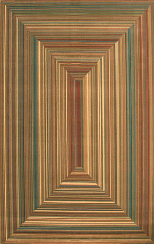 Abacasa 2028-5x8 Essentials Illusion Rust/Teal/Tan/Brown Area Rug - Peazz.com