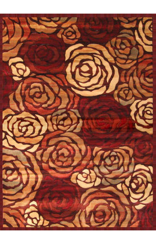 Abacasa 2033-5x8 Essentials Rosetta Rust/Brown/Tan/Red Area Rug - Peazz.com