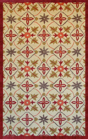 Abacasa 9635-8x10 Lifestyle Kinsley Beige/Red Area Rug - Peazz.com
