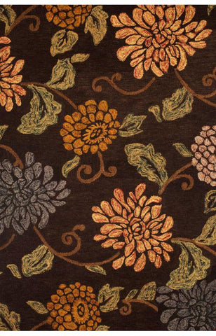 Bayden Hill 9680-8x10 Lifestyle Seneca Chocolate/Sage/Gold Area Rug - Peazz.com