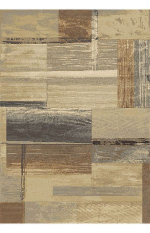 Abacasa 2038-5x8 Essentials Heathwood Blue/Tan/Brown/Sage Area Rug - Peazz.com