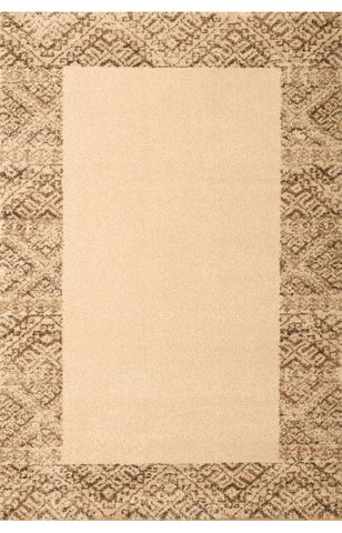 Abacasa 2500-8x10 Granada Borders Ivory/Brown Area Rug - Peazz.com