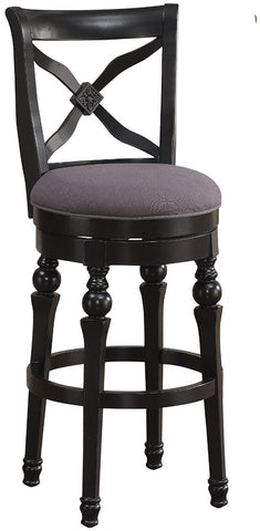 American Heritage Billiards 111206 Livingston Bar Height Stool in Smoke - Peazz.com