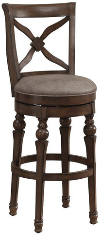American Heritage Billiards 111208 Livingston Bar Height Stool in Sienna - Peazz Furniture