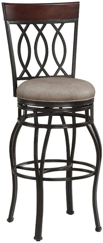 American Heritage Billiards 130111 Bella Bar Height Stool in Aged Sienna - BarstoolDirect.com