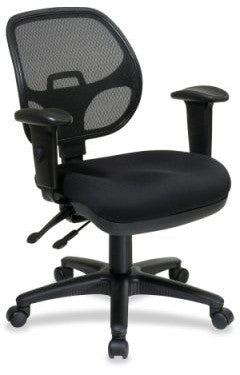 Office Star Pro-Line II 29024-30 Ergonomic Task Chair with ProGrid® Back and Adjustable Arms - Peazz.com