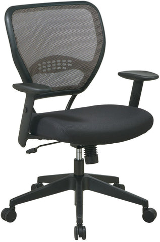 Office Star Space Seating 55-38N17 Deluxe Latte AirGrid® Back Managers Chair - Peazz.com
